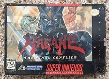Super Nintendo SNES Hagane Original Box + Tray *Authentic* *No Game* *Rare*
