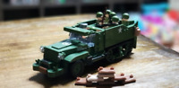 518 Pcs Military Tank Armor 3Pcs Minifigures US Army Soldiers & Weapons Lego MOc