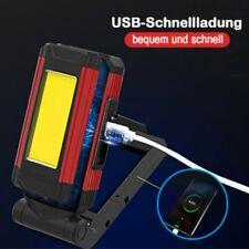 5 Mode Cob Led Work Light Lamp Workshop Magnetic Flashlight Torch Rechargeable