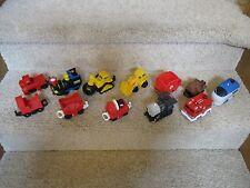 Fisher Price Geo Trax Train Vehicle Push Cars Tractor Wrecking ball Dozer Lot