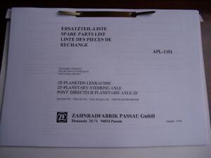 Ersatzteilliste ZF Lenkachse,APL1351, IHC 644, 744, 844
