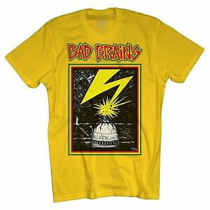 BAD BRAINS T-Shirt Capitol Logo YELLOW Officially Licensed S-2XL