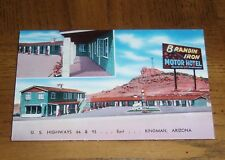 VINTAGE KINGMAN ARIZONA ON U.S. HIGHWAY 66 POSTCARD - BRANDIN' IRON MOTOR HOTEL