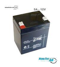 Akku CTM 12V 4,5Ah AGM Bleiakku L90xB70xH101 Faston: 4,8 mm GELAKKU Batterie