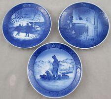 3 Royal Copenhagen Annual Christmas Collector Plates 1978, 1982, 1987