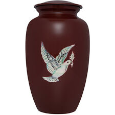 Flying Dove, Peace - Aluminum Funeral Cremation Urn,  Adult, 200 cubic inches