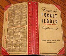 1948-1949 John Deere Farmers Pocket Ledger RASMUSSEN MOTOR Maquoketa IA  82nd Ed