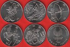 """Japan set of 5 coins: 100 yen 2019-2020 """"Tokyo 2020"""" UNC"""