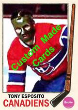 Custom made Topps  1969-70 Montreal canadiens Tony esposito hockey card red 2