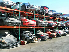 Modern Day Porsche Salvage yard in racks 8 x 10 Photograph