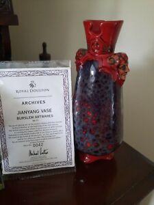 Limited Edition 0042/300 Royal Doulton Flambe Burslem Jianyang Vase BA33
