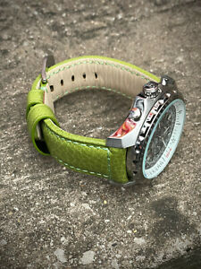 Genuine Green Leather Watch Strap 22/20mm 24/22mm Lug Watches