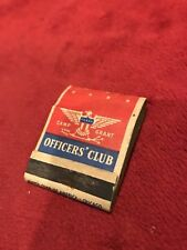 Vintage Army Air Force Matchbook, Camp Grant in Rockford, IL.  Officers' Club.