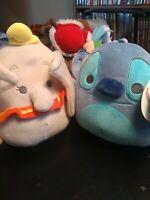 "Disney Dumbo & Stitch 8"" Squishmallow Plush Elephant KellyToy NWT free shipping"