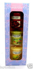 Yankee Candle Simply Home 3 Votive Candles Room-filling Aroma Christmas Gift NEW
