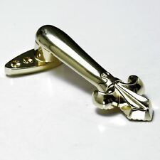 Pair of Polished Brass Quality Stair Clips - Victorian Style - Sprung Hinge