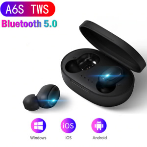 A6S TWS Bluetooth 5.0 Earphone Noise Cancelling fone Headset With Mic Handsfree