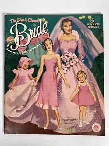 Paper Dolls - The Pink Cloud Bride And Her Pink Wedding - Merrill 1961 Uncut