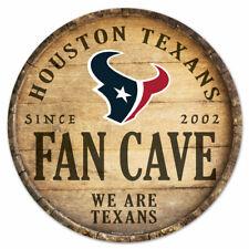 NFL Houston Texans Fan Cave Rund Wood Sign Holzschild Holz Deko Football