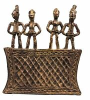 Arte Africano Africa - Eccezionale Ciondolo Koulango Kulango IN Bronzo 9,5 CMS