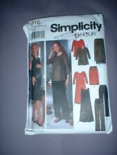 SIMPLICITY PATTERN 9516 ~ LADIES MATERNITY DRESS PANTS TOP ~ SZ 6-12  ~ NEW
