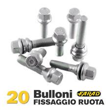 Kit 20 bulloni ruota Peugeot 308 Bipper Partner dal 2003 cerchi in acciaio Farad