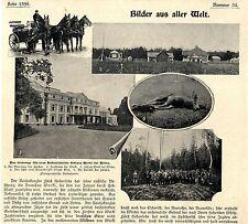 Fürstenschloß Hohenlohe Werki bei Wilna Historische Aufnahmen von 1900