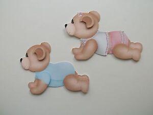 3D - U Pick - BA10A Baby Girl Boy PJs Onezies Bear Scrapbook Card Embellishment