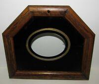 Schoolhouse Short Drop Wall Regulator Clock Bottom Door & Glass Tablet (Store#6)