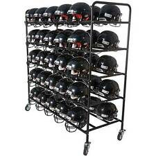 Football Helmet Cart/Rack - Free Shipping (Holds Basketballs/Batting Helmets)