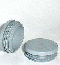 10 Lamellenstopfen für Rundrohr  42 mm WS 1-2 mm GRAU