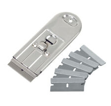 All Steel Retractable Safety Scraper with 5 Single Edge SK5 spring steel Blades