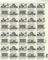 Scott #1928/31 - US Architecture -  Sheet With 40 - 18 Cent Stamps - MNH