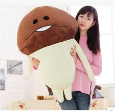 "37"" Cute Funghi Mushroom Garden Nameko Plush Stuffed Doll Toy Figure Game Toy"