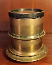 Antique Brass Photo Lens Calhoun Rapid Perspective Old Vintage Camera c. 1900