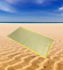 Straw Beach Mat Roll Up Carry Mat Travel Picnic Holiday Camping Festival Park