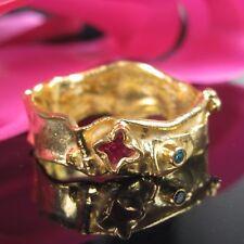 Mi Gioielli Argento 925 Sterling Rubino Topaz Anello Tg. 63 Argento Anello Oro 999
