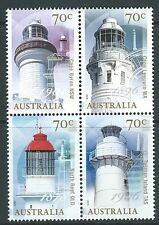 Australie 2015 Lighthouses bloc de 4 Non montés excellent état