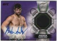 2018 Topps UFC Knockout Autographed Purple Relic AUTO /25 #KAR-AA Andrew Sanchez