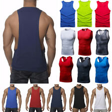 Mens Compression Sleeveless Gym Fitness Sports Muscle Tee Vest Tank Tops T-shirt