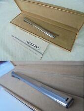 AURORA THESI PENNA SFERA IN ACCIAIO + SCATOLA +GARAN Steel Ball Pen + Box +GARAN