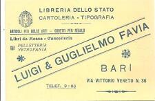 BARI - LUIGI & GUGLIELMO FAVIA - LIBRERIA - CARTOLERIA - TIPOGRAFIA_CANCELLERIA