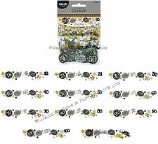 Triple Pack Table Confetti Gold Black Silver Birthday Party Sprinkle Decorations