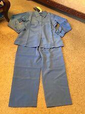 Women's size S Small Susan Graver Style blue outfit suit set shirt pants NWT
