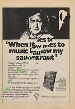 Adrian Wagner LP advert ZigZag Clipping 1970's