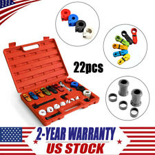 22PC Deluxe A/C Fuel Transmission Line Disconnect Tool Set KIT for Ford GM NEW
