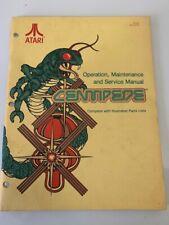 Centipede Arcade Game Manual Vintage