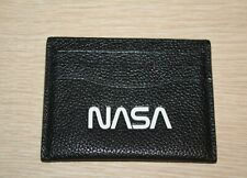 COACH X NASA Men's LEATHER Slim ID CARD CASE Black MINI WALLET $95 Space Capsule