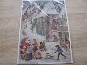 Nostalgischer Adventskalender Weihnachten Rodelfreuden mit Hund Sellmer Verlag