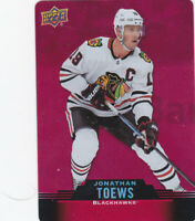 20/21 TIM HORTONS..JONATHAN TOEWS..RED DIE CUT.# DC-11..BLACKHAWK..COMBINED SHIP
